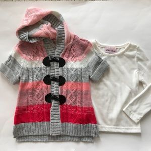 👫Cardigan Sweater and Long Sleeve Tee Set